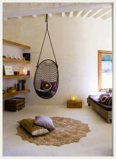 Spacious and airy - want a hanging chair!