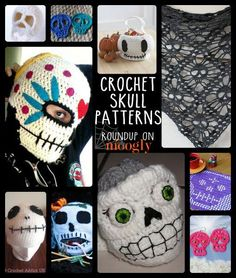 Free Crochet Skull Patterns: Perfect for Halloween and the Day of the Dead in this awesome collection