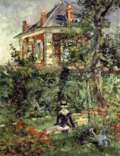 Bild:  Edouard Manet - Marguerite im Garten von Bellevue