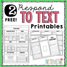 Freebie: Looking for some activities to add to reading workshop?  These reading respond sheets are a perfect addition to your 'Respond to Text' station!Included:1 - Choice Board2 - Nonfiction Text Structures Tri-Fold------------------Looking for more?>> Free fiction and nonfiction bookmark book report (CLICK Here) to download.>> Nonfiction text features booklet (CLICK Here) to view.>> Free active readers printable (CLICK Here) to download.