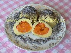 Tvarohové ovocné knedlíky Panna Cotta, Eggs, Lunch, Breakfast, Ethnic Recipes, Food, Morning Coffee, Dulce De Leche, Eat Lunch