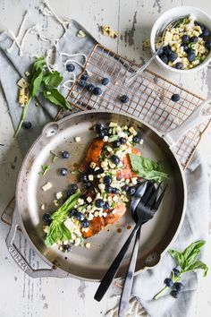 Wild Salmon with Blueberry Roasted Corn Salsa - Country Cleaver Roasted Corn, Roasted Salmon, Corn Salsa, Summer Dishes, Aesthetic Food, Healthy Recipes, Savoury Recipes, Healthy Food, Salmon Recipes