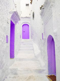 where there are purple doors