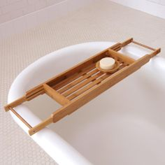 Bamboo Bathtub Tray | World Market