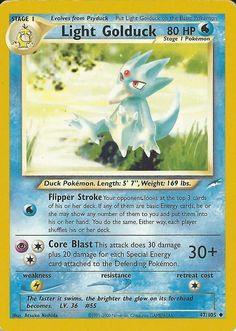 Light Golduck Pokemon Card