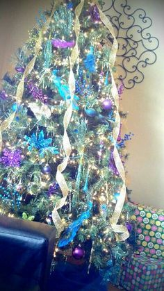 purple and gold christmas tree - Google Search