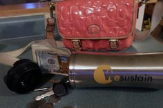 Water Fun - Tips for Surviving the Beach with Kids {Splash Into Summer Series Week 1} Leave your purse at home and put keys, cash and credit cards in an opaque water bottle. Throw in your beach bag. Thieves will never suspect what's in there.