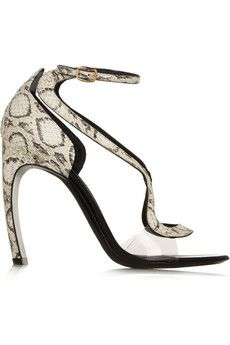 Ahhhhhh! I'm in love. :) Nicholas Kirkwood Elaphe and acetate sandals | NET-A-PORTER