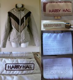 2000's HARRY HALL Padded Quilted Puffer Funnel Neck Winter Work Riding Coat Jacket Womens Ladies L 42   08.30