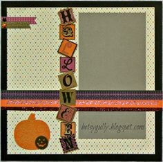 Scaredy Cat is the fun Halloween themed papers we'll be using for our October classes. Here are layouts that will complement your little go...