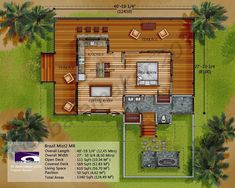 Small Tropical House Plans New Brazil Mist Ii Mr Small Beach Houses, Tropical Beach Houses, Tropical House Design, Tropical Nursery, Small Houses, Open Floor House Plans, Beach House Plans, Beautiful Small Homes, Caribbean Homes