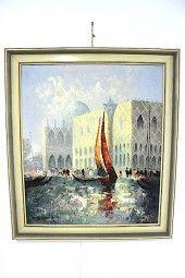 Gemälde E.Seifert Venedig Expressionist