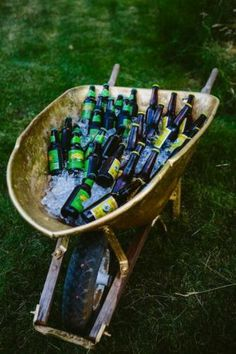 Great drink idea, love the painted gold !!