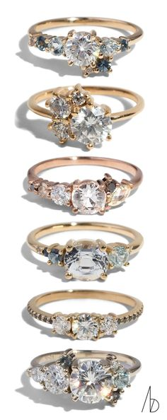 Shout out to these beautiful Custom Cluster Rings. Most of our collection interacts with an array of ethical and sustainable gemstones and metal options which we encourage you to explore. #weddingring