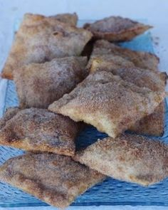 Take crescent rolls, put a scoop of apple pie filling in each, roll it up and roll it in cinnamon and sugar, and then bake according to the by susan.montgomery.39794