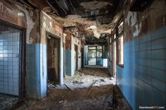 Inside the tuberculosis pavilion at Riverside Hospital on North Brother Island, New York