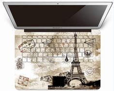 Eiffel Tower Mac Full Keyboard Decals ,Macbook Decals ,Keyboard Stickers,Macbook Pro/Air Sticker, Laptop Keyboard Skin