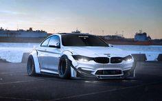 Scarica sfondi tuning, BMW M4 Coupé, 4k, arte, F82, auto tedesche, sportcars, BMW