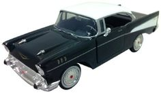 Motormax 1:24 Die-Cast 1957 Chevy Bel Air - Colors May Vary by Motormax. $11.99. Colors may vary between Red and Black. Doors and hood open. Detailed interior, engine parts and real rubber tires. A great gift for car enthusiasts. Packaged in a open window box. From the Manufacturer                1:24 scale die-cast replica of the 1957 Chevy Bel Air by Motormax.                                    Product Description                Made of diecast Opening doors Opening...