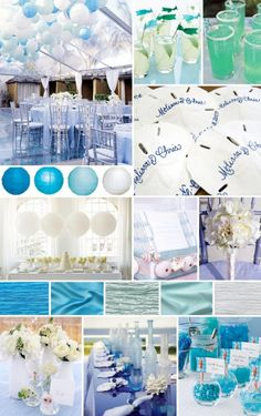 Beach Wedding Theme; so many different beach wedding themes to choose from; decisions, decisions