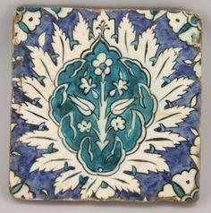 A Damascus Tile, Ottoman Syria, 17th century