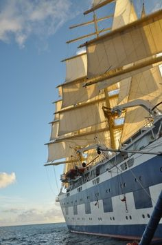 Sailing the Caribbean on a tall ship is an unforgettable experience Royal Clipper at Friar's Bay St. Kitts #Caribbean