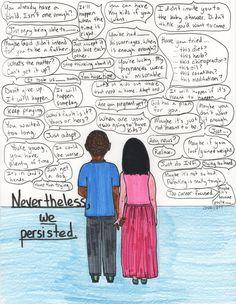 The artwork of Courtney Privett. Amazing. #persist #infertility #IVF