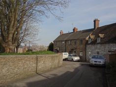 Eastrop Cottages in the market town of Highworth, Wiltshire, England.