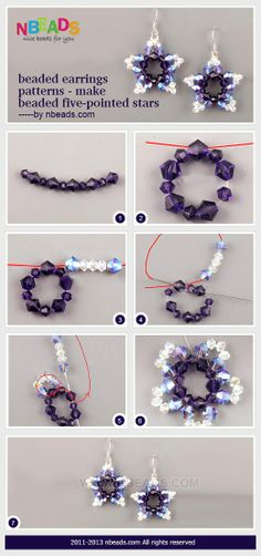 Beaded Earrings Patterns - Make Beaded Five-Pointed Stars – Nbeads