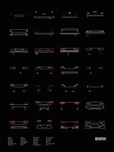 Auto Icon Screen Print Series: BMW Tail Lights – NOMO Design