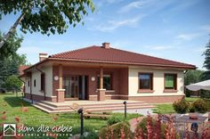 Cuanto cuesta hacer una casa de 100 metros cuadrados Architect Design House, House Roof Design, Village House Design, Kerala House Design, Bungalow House Design, Village Houses, Small House Design, One Level House Plans, Family House Plans