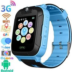 Kids Smart Watches GPS Tracker – Kids Android Smart Watch Phone for Boys Girls with Touch Screen Fitness Tracker Phone Camera Video Recorder Flashlight Compatible at&T/T-Mobile (Blue) Best Kids Watches, Cool Watches, Sport Watches, Elegant Watches, Stylish Watches, Smartwatch, Digital Sports Watch, Android Watch, Swiss Army Watches