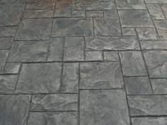 Like it says, I am building a fence for the owner of a concrete plant. Almost his whole backyard is stamped concrete. Stamped Concrete Patterns, Stamped Concrete Driveway, Concrete Pad, Concrete Overlay, Concrete Driveways, Walkways, Concrete Stamping, Decorative Concrete, Concrete Color