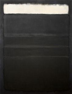 untitled [white, blacks, grays on maroon] | mark rothko