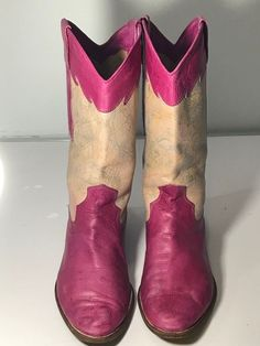ALDO Womens size US 9  Euro 39.5  Western Hot Pink Boots Pull On Made in Italy #Aldo #CowboyWestern #Casual