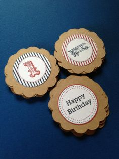 Vintage Airplane Cupcake Toppers- (12) on Etsy, $6.00