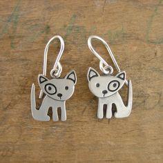 Little Spot Dog Earrings by marmar on Etsy, $50.00