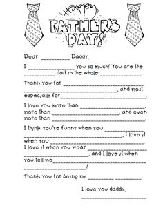 Father�s Day Mad Lib