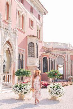 Gal Meets Glam Villa-Ephrussi-de-Rothschild -Zimmermann Dress, Castaner Wedges, Mark Cross bag & Preston & Olivia hat