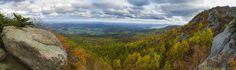 Phenomenal fall colors right now in Virginia. My picture doesn't do them justice. Old Rag Mountain, Virginia - imgur