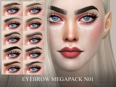 Ten new eyebrows. Found in TSR Category 'Sims 4 Hair Sets' - Ten new eyebrows. Found in TSR Category 'Sims 4 Hair Sets' - Sims 4 Game Mods, Sims Mods, The Sims 4 Skin, Sims 4 Cc Eyes, Sims 4 Cas, Sims Cc, The Sims 4 Cabelos, Sims 4 Mods Clothes, Pelo Sims