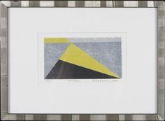 Reino Hietanen: Kulma, litografia, 12x20 cm, edition 14/80 - Hagelstam A126