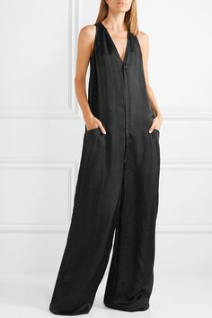 Find and compare Satin-twill jumpsuit across the world's largest fashion stores! Bohemian Stores, Boot Bling, Black Satin, Jumpsuits For Women, Shorts, Plus Size Outfits, Casual Outfits, Rick Owens, My Style