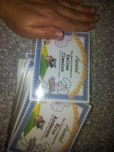 Mini box top certificates