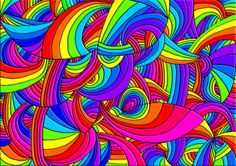 A  Very Cool Rainbow Wallpaper - cool, drawings, digital art, psychedelic