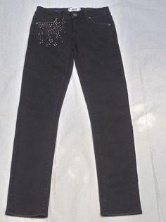 PAIGE DENIM skyline ankle peg mid rise SKINNY NOVA BLACK women's jeans size 25