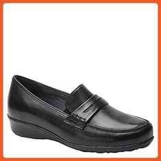 Drew Shoe Women's Berlin Slip On Loafers, Black, Leather, 11 M - Loafers and slip ons for women (*Amazon Partner-Link)
