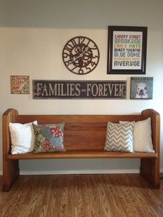 From The Bachmanu0027s 2012 Spring Ideas House...church Pew Bench... | On My  Blog... | Pinterest | Spring, Kitchens And My Church