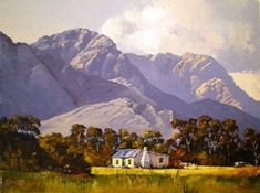 Oil Painting - Scene near Worcester by Ted Hoefsloot African Paintings, South African Artists, Art Portfolio, Fashion Images, Oil On Canvas, Landscapes, Scenery, Wildlife, Worcester