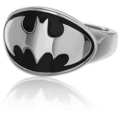 DC Comics Stainless Steel Batman Ring ($48) ❤ liked on Polyvore featuring jewelry, rings, batman, accessories, stainless steel jewellery, stainless steel rings and stainless steel jewelry